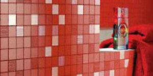 Мозаика плитка красная